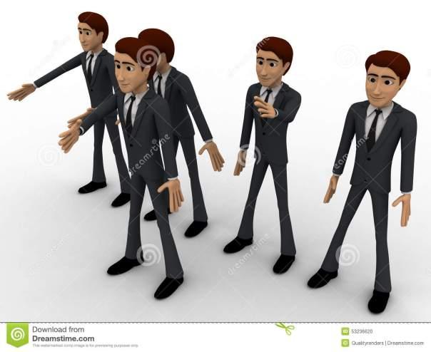 groupe-d-des-hommes-marchant-avec-le-chef-dans-le-concept-avant-53236620