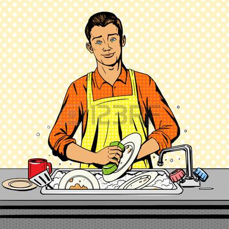 49349278-man-lave-vaisselle-pop-vecteur-de-style-art-illustration-imitation-de-style-de-bande-dessin-e