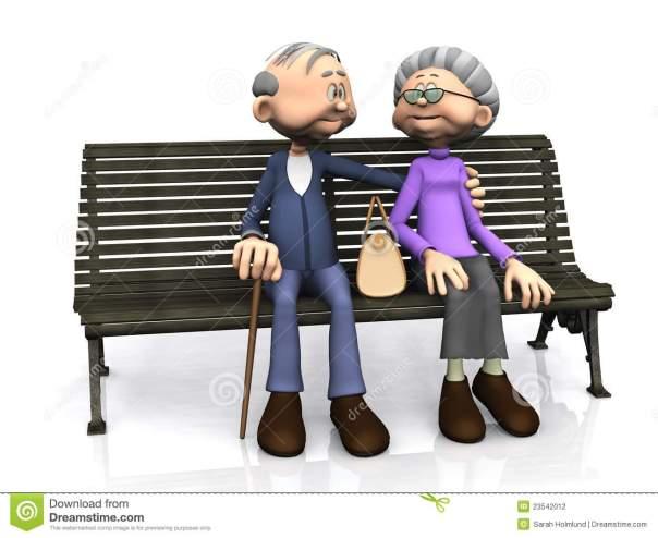 vieux-couples-de-dessin-anim-sur-le-banc-23542012