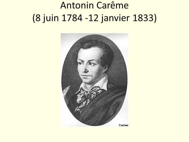 Antonin Carême (8 juin janvier 1833)