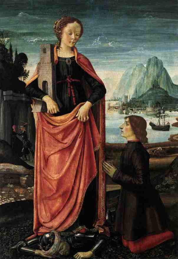 ghirlandaio_st_barbara_crushing_her_infidel_father_with_a_kneeling_donor
